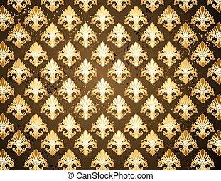 Background with gold Fleur de Lis