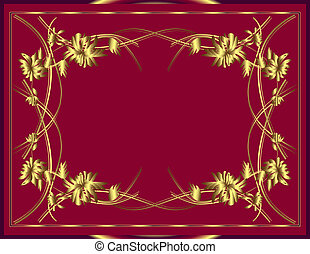 Background with gold flowers