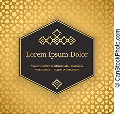 Background with gold girih pattern