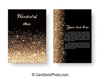 background with gold lights