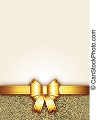 background with golden bow
