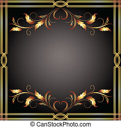Background with golden ornament for various design artwork