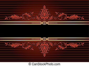 Background with golden ornament - Luxurious background with...