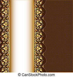 background with gold(en) pattern and net