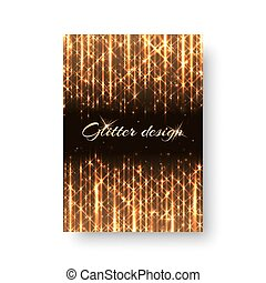 Background with golden shine - Bling background with flare...