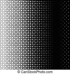 Background with gradient of black and white circles -...