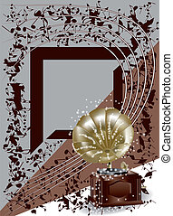 background with gramophone