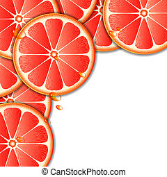 Background with grapefruit
