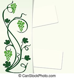 Background with grapevine for design works