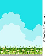 Background with grass and sky
