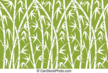 background with green bamboo stems