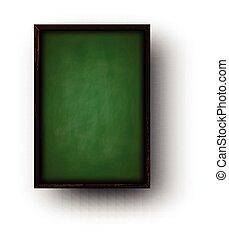 Background with green blackboard.