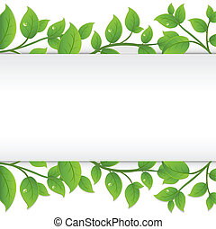 Background With Green Branches