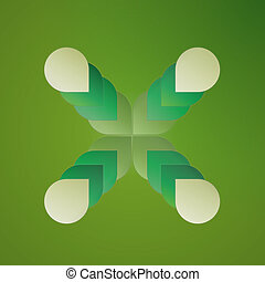 background with green elements