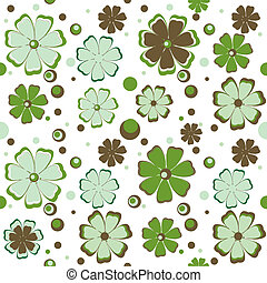 Background with green flowers.