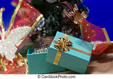 Background with Green Giftbox
