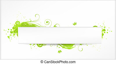 Background with green grunge elements