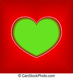 Background with green heart