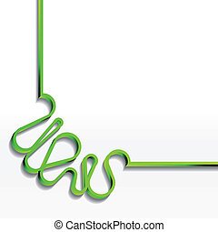 Background with green ribbon