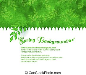 Background with green shrubs