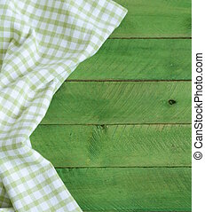 background with green towel