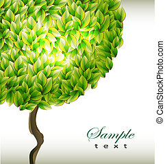 background with green tree