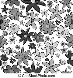 Background with grey flowers