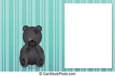 Background with grey teddy bear