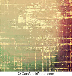 Background with grunge elements on vintage style old texture. With different color patterns: yellow (beige); brown; green; red (orange); gray; purple (violet)