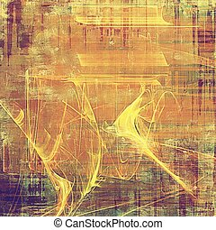 Background with grunge elements on vintage style old texture. With different color patterns: yellow (beige); brown; red (orange); purple (violet); pink