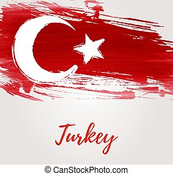 Background with grunge Turkey flag
