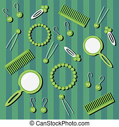 background with hair care objects