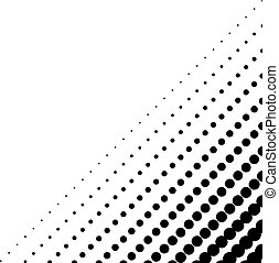 Background with halftone in the corner