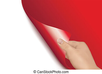 Background with hand. vector.