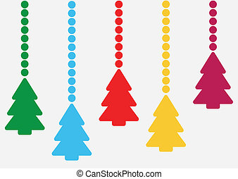 background with hanging christmas t