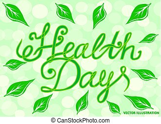 Background with Health Day banner. Illustration.
