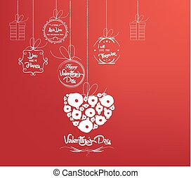 Background with heart by valentines