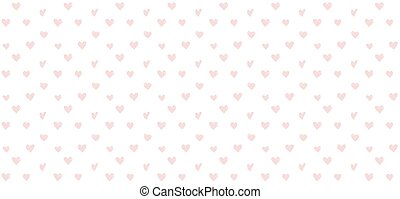 Background with heart seamless pattern, Valentine's day banner