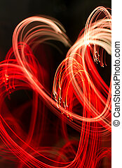 background with heart-shaped lights