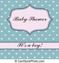Background with hearts baby shower