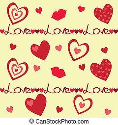 Background with hearts