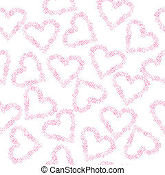 Background with hearts made of flowers