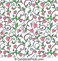 Background with hearts ornament