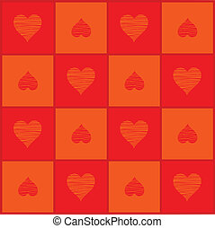 Background with hearts to the day of Sainted Valentine (Vector)