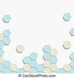 Background with hexagon.