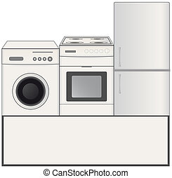 background with home appliances