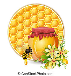 Background with honeycomb