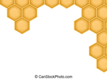 EPS10 file. Vector background with structure of honeycomb and space to write your own text