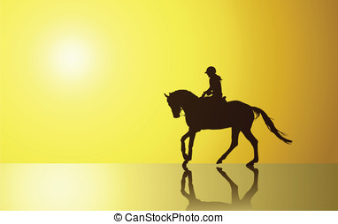 Background with horse