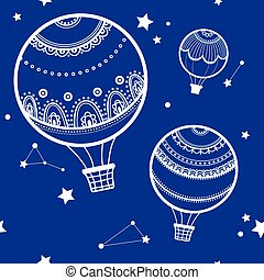 Background with hot air balloons.